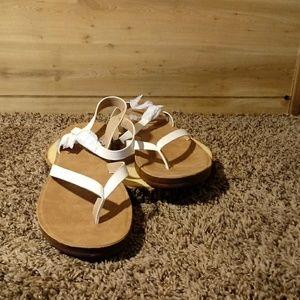 Womens Sandal White Size 10
